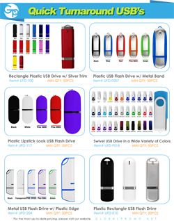 Quick Turnaround USB Catalog