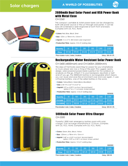 Solar Chargers Flyer